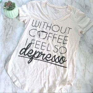 Freeze | without coffee graphic t • M